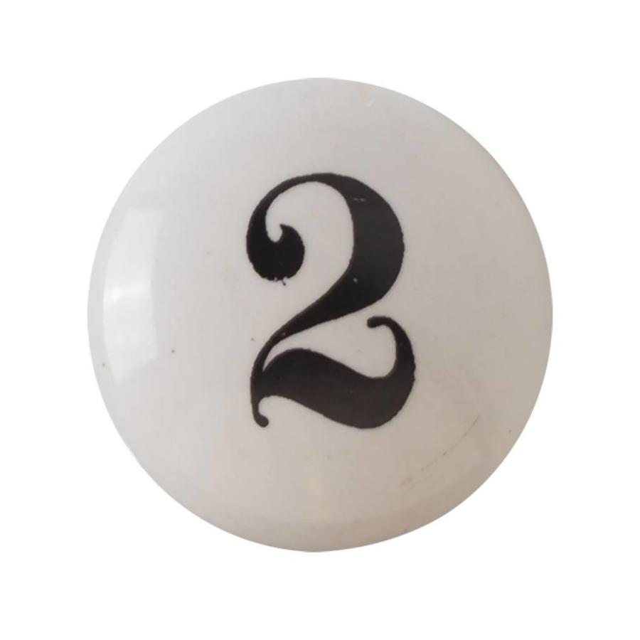 Porzellanknauf Nummer 2