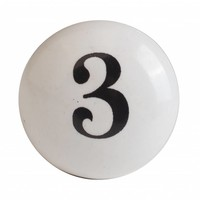 Porzellanknauf Nummer 3
