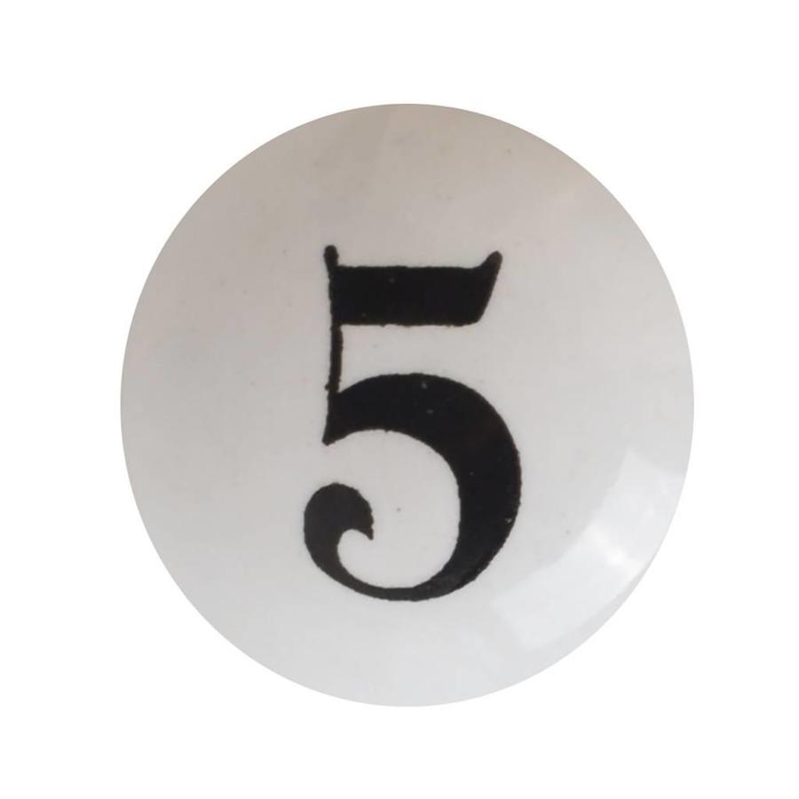 Porzellanknauf Nummer 5