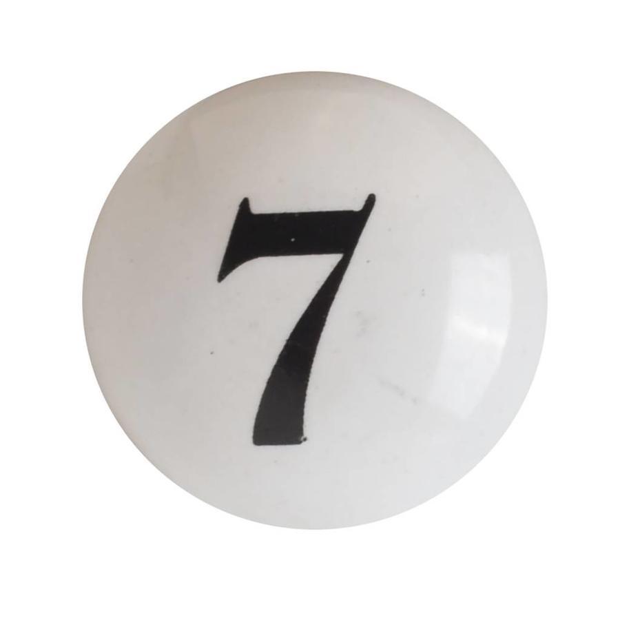 Porzellanknauf Nummer 7