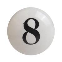 Porzellanknauf Nummer 8