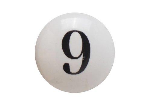 Keramik Möbelknopf Nummer 9