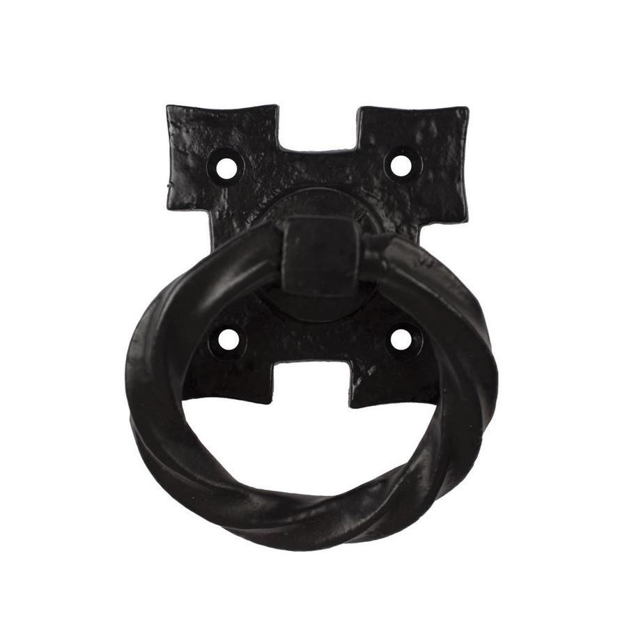 Gusseisen Möbelgriff Tor - schwarz