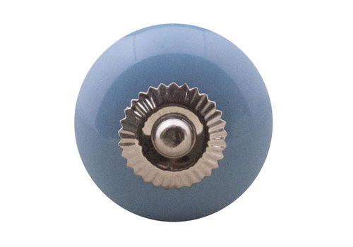 Keramik Möbelknopf blau