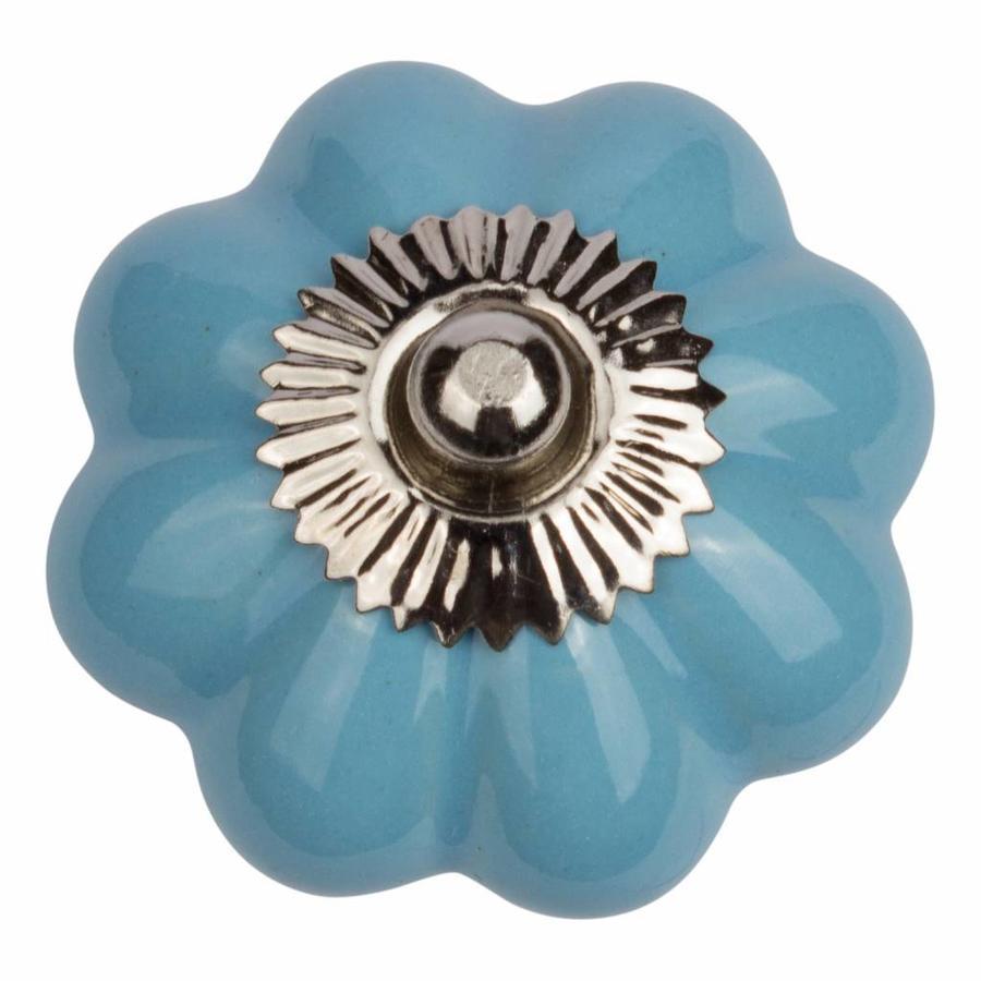 Porzellanknauf blaue Blume