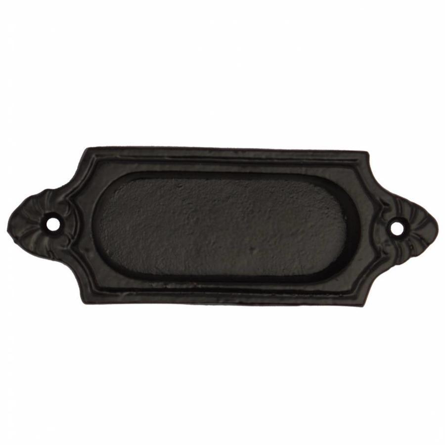 Gusseisen Einlassgriff für Schiebetür 125mm - schwarz