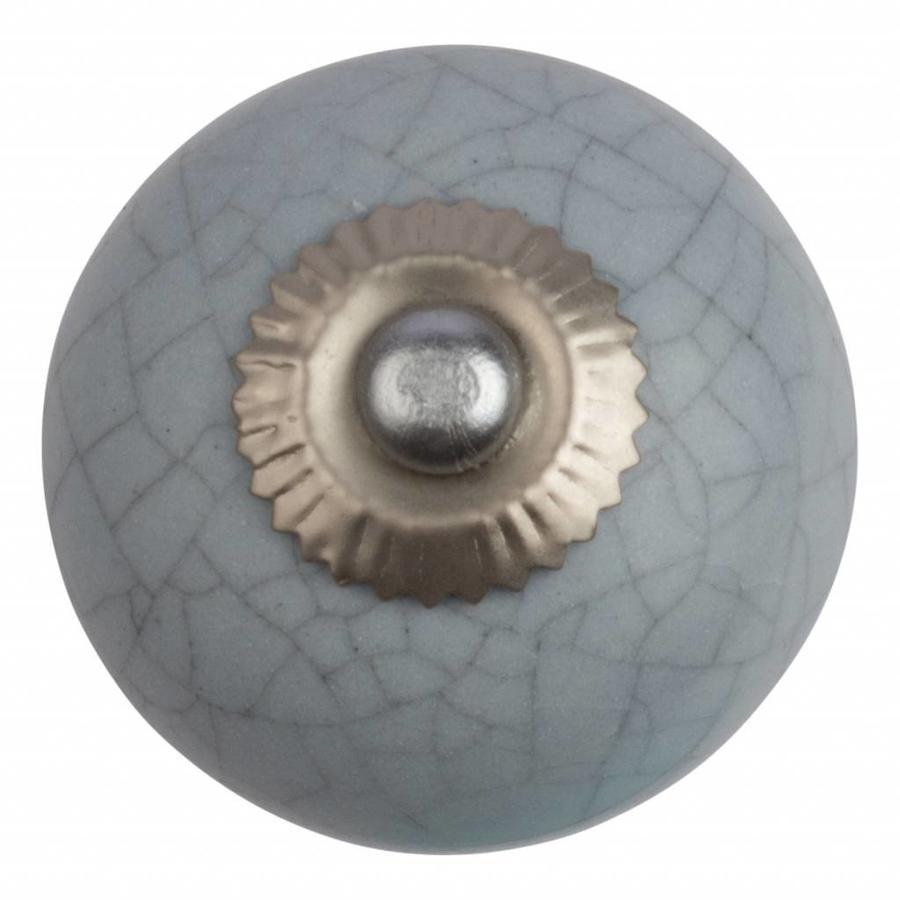 Porzellanknauf hellgrau - krakeliert