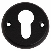 Gusseisen Schlüsselrosette PZ 52mm - schwarz