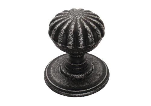 Möbelknauf Blume 32mm - Zinn-Effekt