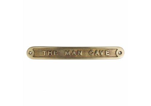 "Spruchschild ""The Man Cave"" - Messing"
