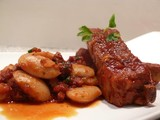 Vlees ribben roze pepersaus 5.99€/500gr