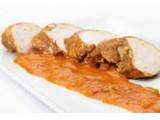 gebraden kalkoen filet in appelsien saus  6.99€/500gr