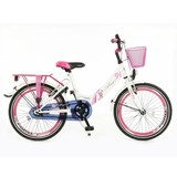 POPAL Girl Bike 22 inch Angel white, pink and purple