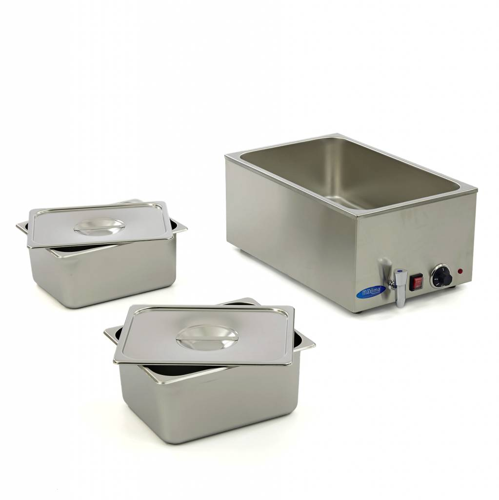 Maxima Bain Marie With Tap Including 2 X 1 1 Gn Set Maxima Kitchen Equipment