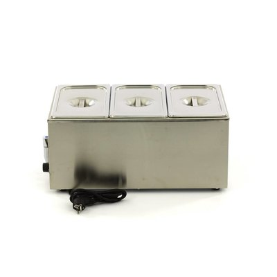 Maxima Bain Marie with Tap including 3 x 1/3 GN Set