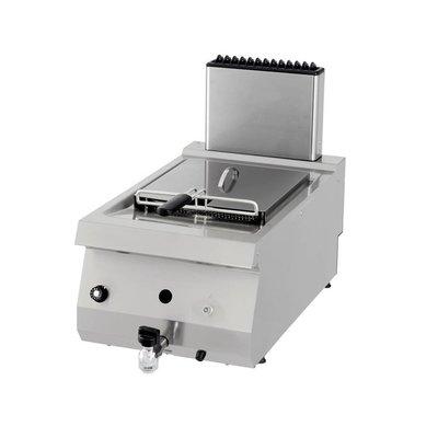 Maxima Heavy Duty Gas Fritteuse 1 x 12.0L mit Wasserhahn