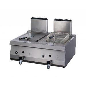 Maxima Heavy Duty friteuse à gaz 2 x 12.0L