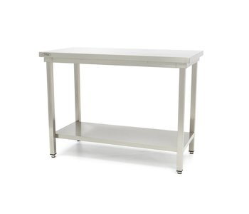 Maxima Stainless Steel Workbench 'Deluxe' 2000 x 600 mm