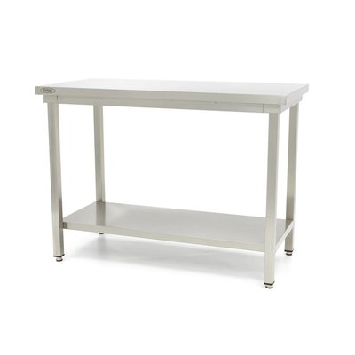 Maxima Stainless Steel Workbench 'Deluxe' 600 x 600 mm
