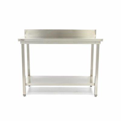 Maxima Roestvrijstalen Werktafel 'Deluxe' met achteropstand 800 x 600 mm