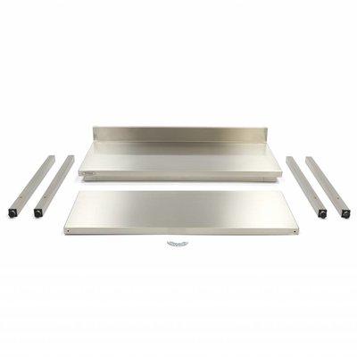 Maxima Roestvrijstalen Werktafel 'Deluxe' met achteropstand 1000 x 600 mm