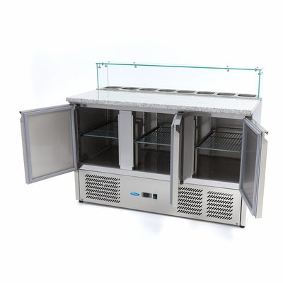 Maxima Refrigerated Pizza Table Glass 3