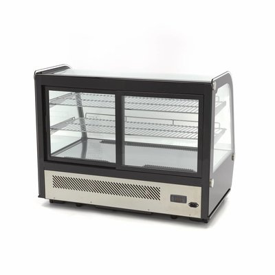 Maxima Luxus Kühlvitrine 160L Schwarz