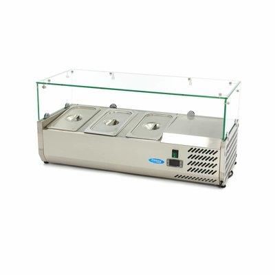 Maxima Aufsatszkühlvitrine / Gekühlte Aufsatzvitrine 95 cm - 1/3 GN