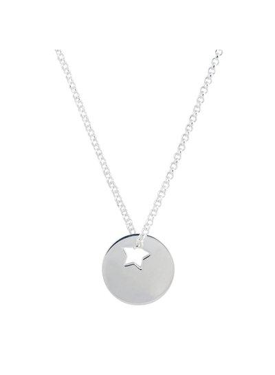 Zilveren naamketting met ster