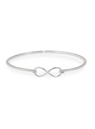 Klemarmband zilver met Infinity symbool