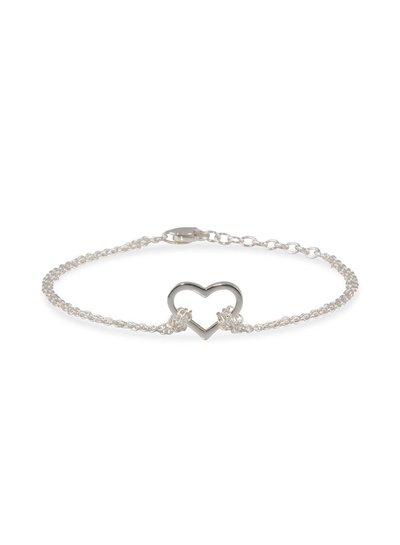 Armband zilver met open hartje