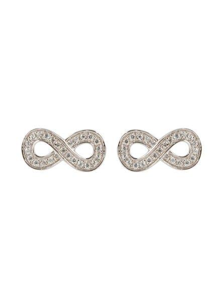 Infinity oorknoppen Zilver