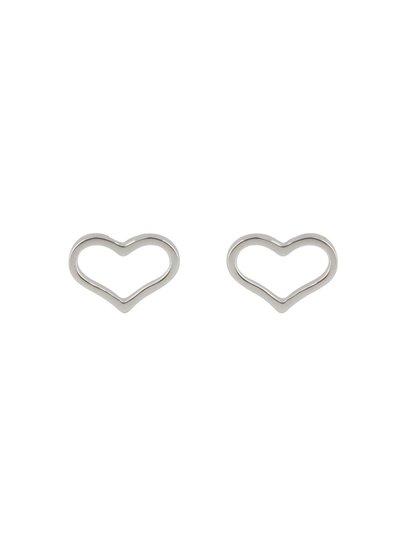 Zilveren fantasie oorknoppen met hartje
