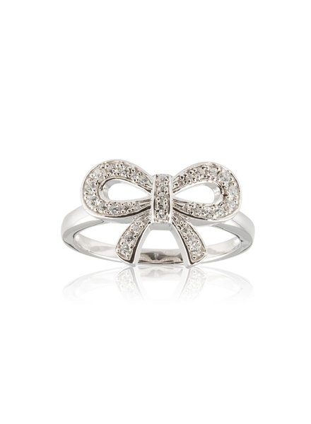 Ring met strikje Zilver