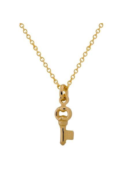 Ketting met sleutel hanger Goud verguld