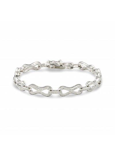 Armband zilver met zirkonia
