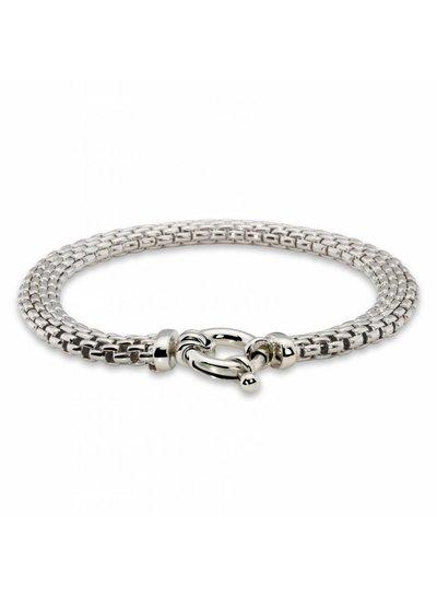 Zilveren armband met fantasieschakel