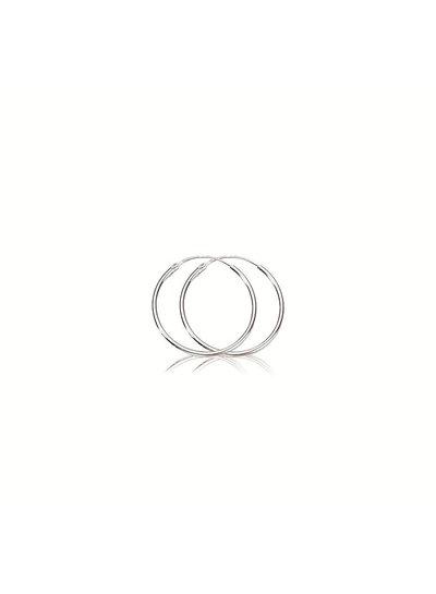 Zilveren draadcreolen 1  mm ronde buis