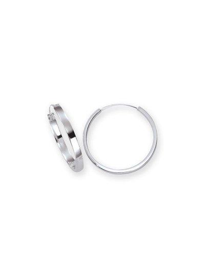 Zilveren massieve creolen 3 mm