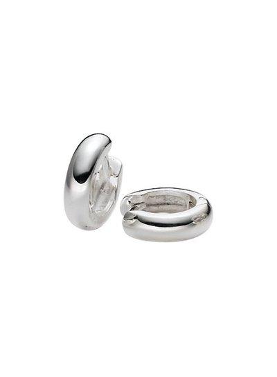Zilveren draadcreolen 5  mm buis