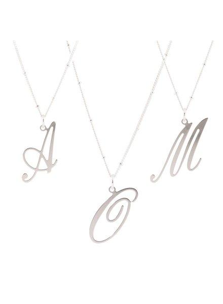 Initialen hangers Zilver