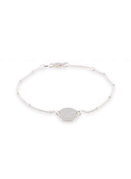 Armband Zilver met initiaal