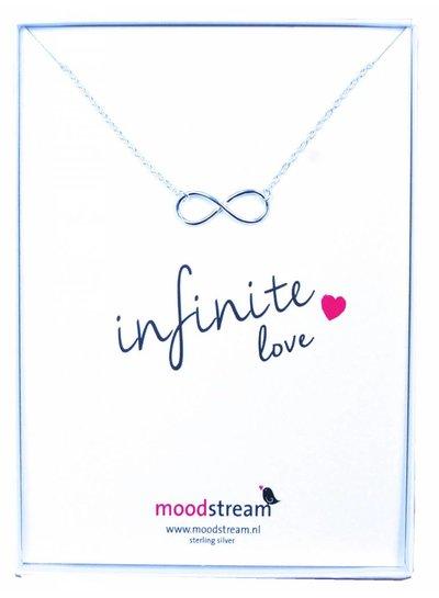 Cadeaudoosje INFINITE love ketting met Infinity hanger in het zilver
