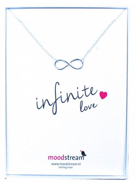 Cadeaudoosje INFINITE love ketting met Infinity hanger