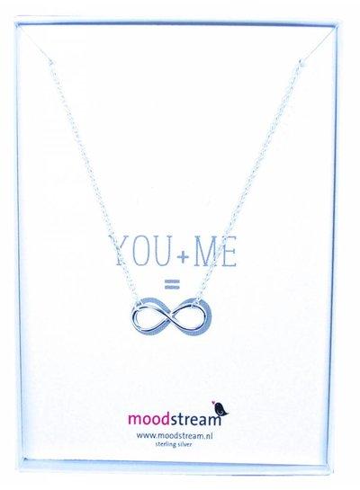 Cadeaudoosje YOU & ME ketting met Infinity hanger in het zilver