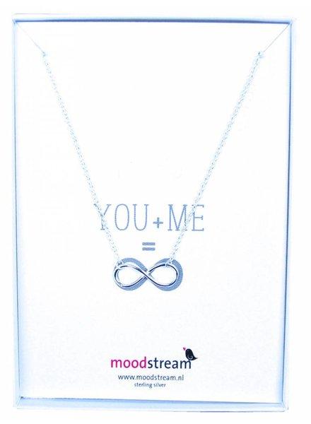 Cadeaudoosje YOU & ME ketting met Infinity hanger