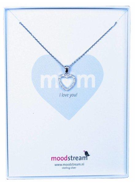 Cadeaudoosje MOM ketting met hart hanger