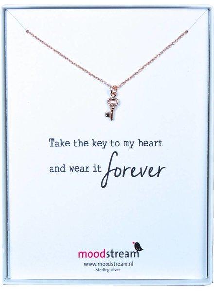 Cadeaudoosje KEY TO MY HEART ketting met sleuteltje