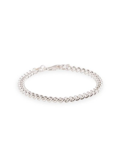 Zilveren gourmet schakelarmband