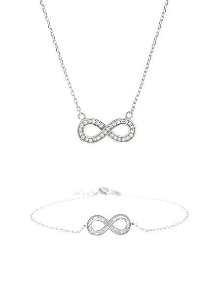 Infinity set ketting met armband